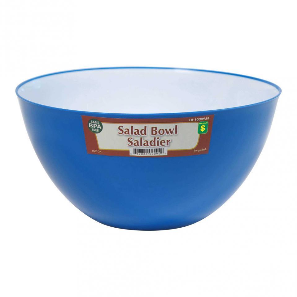 Plastic Salad Bowl (Assorted colours)