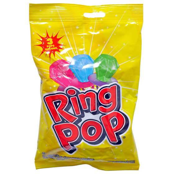 Ring Pop Lollipop 3PK (Assorted Colours and Flavours)