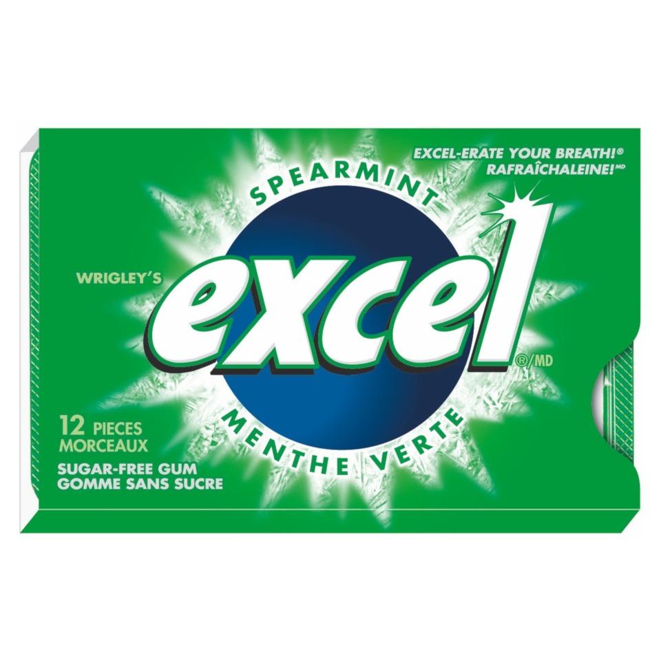 12 Gommes à la menthe verte Excel