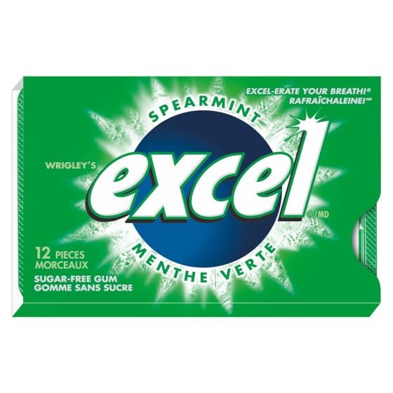 12 Gomme à la menthe verte Excel