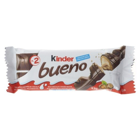 2 Collations au chocolat Kinder Bueno