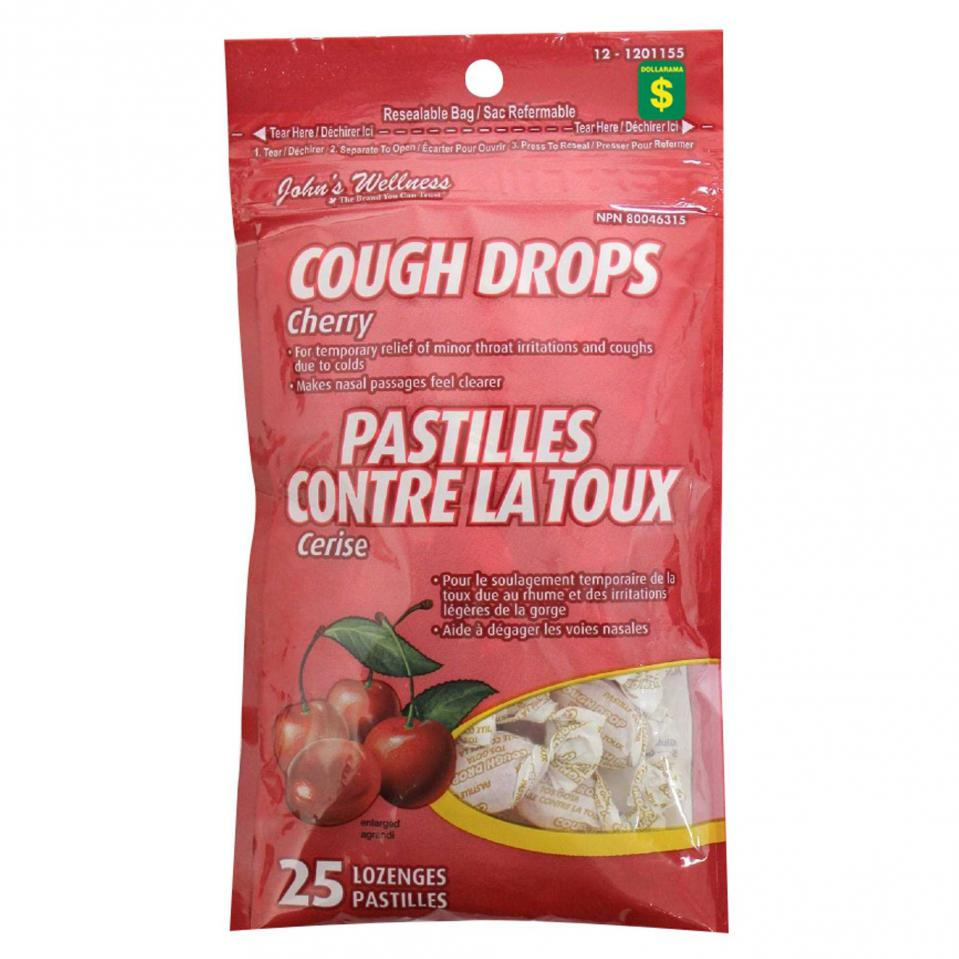 25PK Cherry Cough Drops