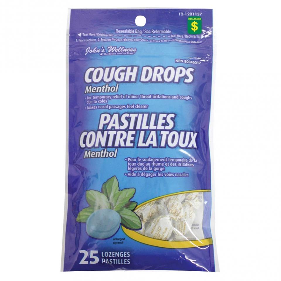 25PK Menthol Cough Drops