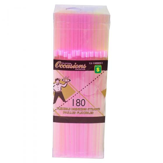 Flexible Drinking Straws 180PK