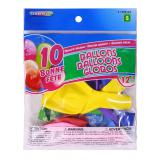 "12"" 'Bonne Fête' Balloons 10PK (Assorted Colours) - 0"