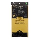 20 feuilles de papier de soie jaune radiant - 0