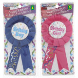 Happy Birthday Award Ribbon (Assorted Colours) - 1