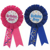 Happy Birthday Award Ribbon (Assorted Colours) - 3