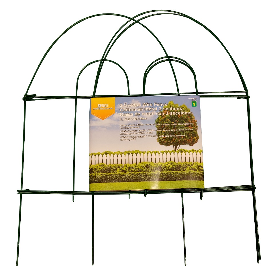 3 Section Folding Garden Fence (Assorted Colours)