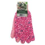 Floral Cotton Garden Gloves - 0