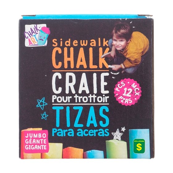 13 Colored Dustless Sidewalk Chalk