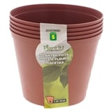 Textured Plastic Flower Pots (Assorted Dimensions) - 0