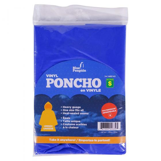 Vinyl Poncho (Assorted Colours)