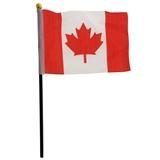 4 Drapeaux du Canada sur pôle - 1