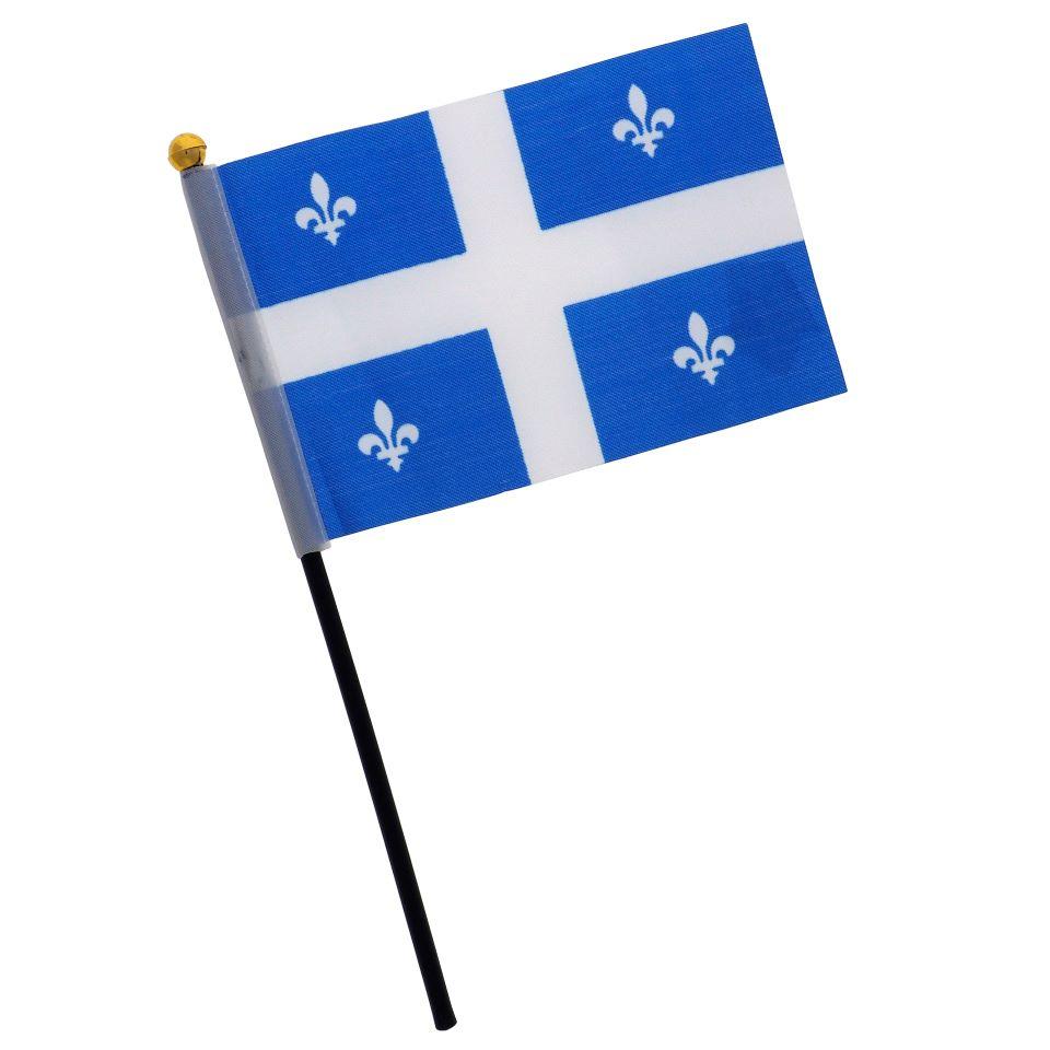 Paq. de 4 drapeaux du Québec sur pôle