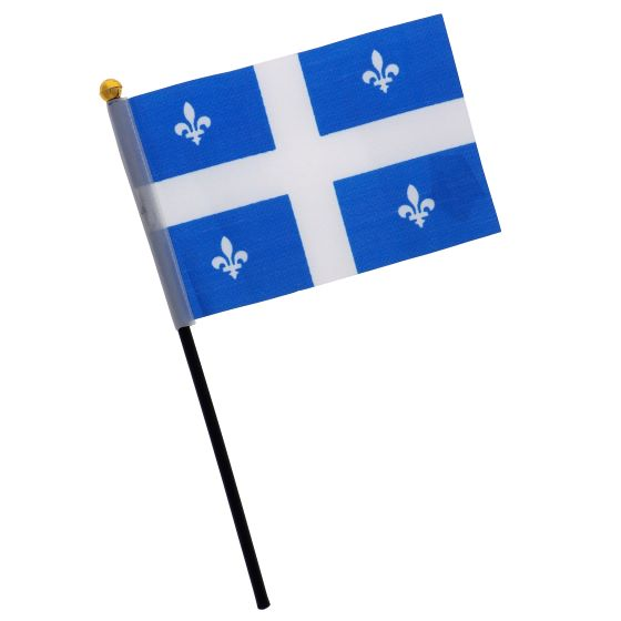 4PK Quebec Flag on Pole