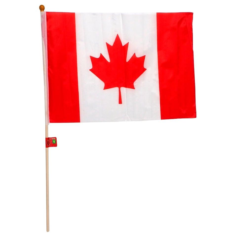 """Drapeau du Canada avec pôle 12"""" x 18"""""""