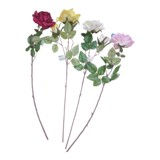 Artificial Long Stemmed Rose (Assorted Colours) - 1