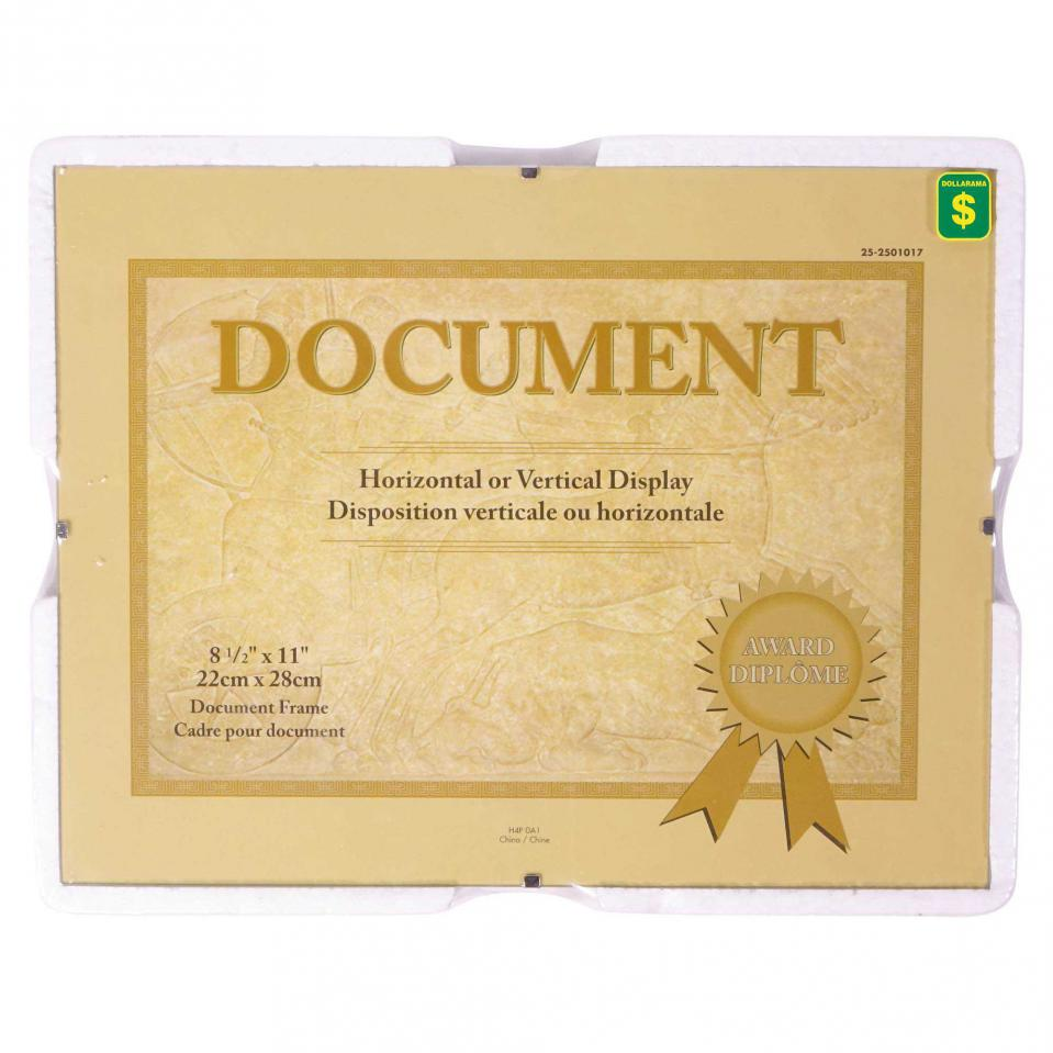 "8.5""x11"" Document Frame"