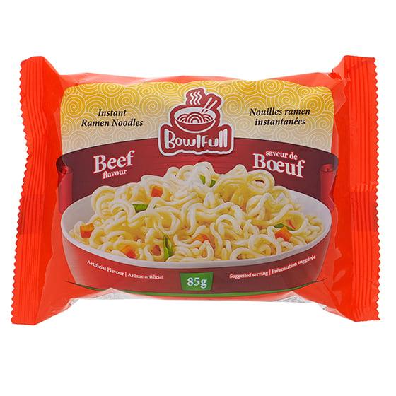 Soupe aux nouilles instantanée à saveur de boeuf - Caisse de 48