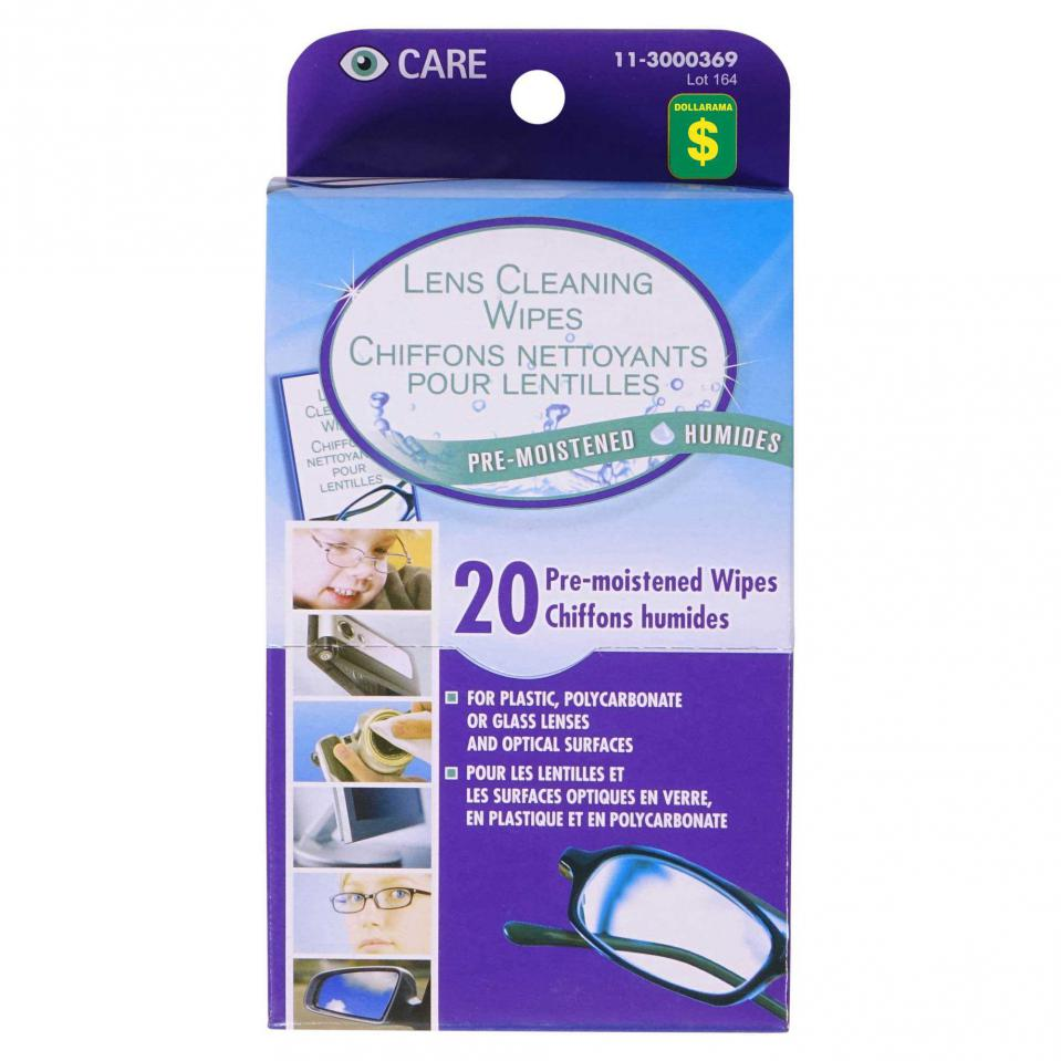 Lens Cleaning Wipes 20PK