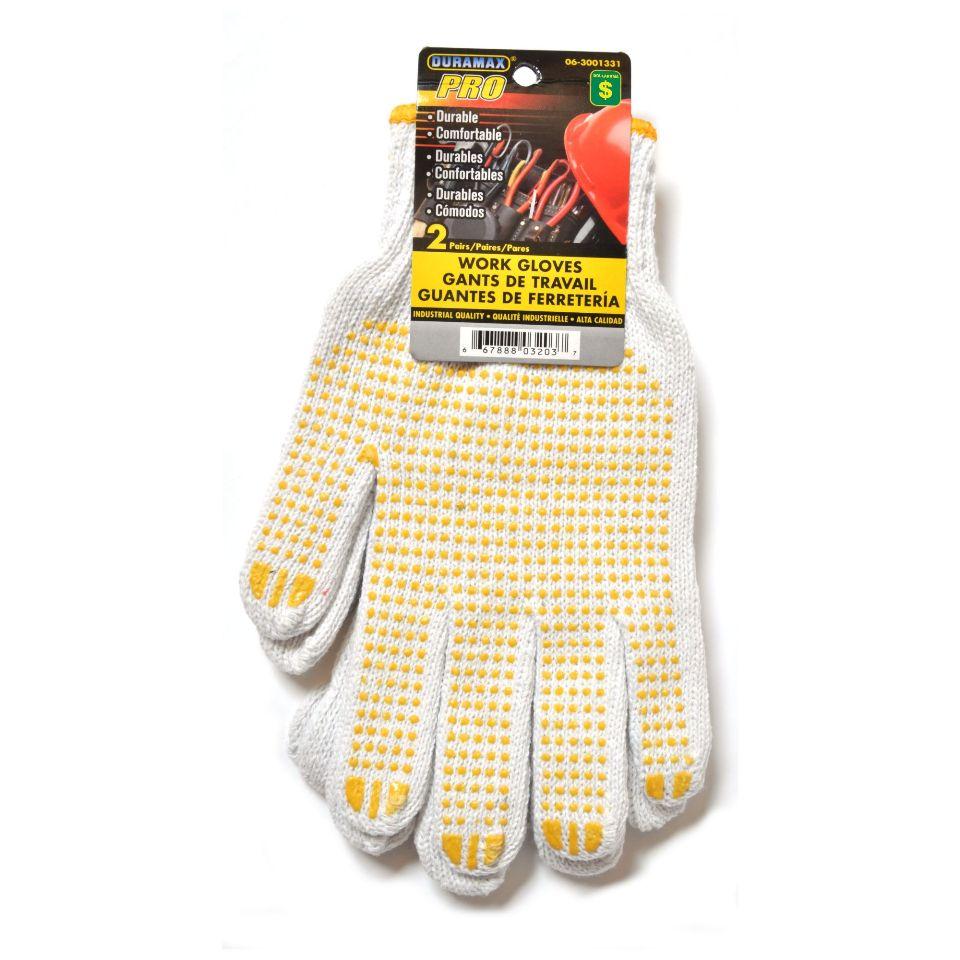 Knit Work Gloves 2PR