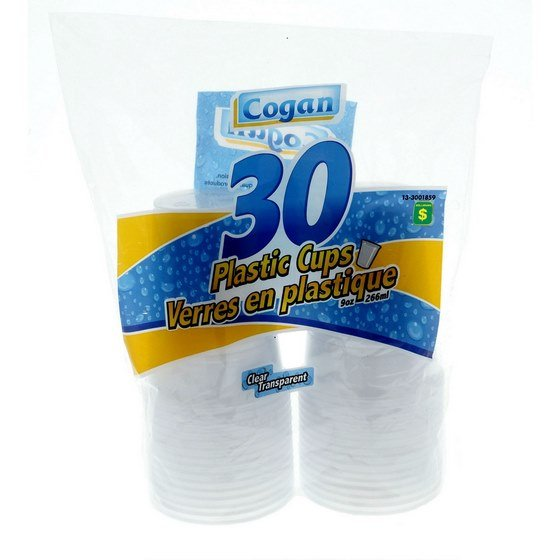 Disposable Plastic Cups 30PK