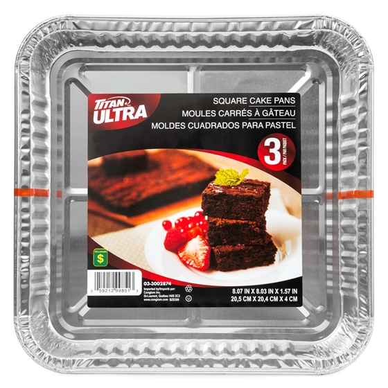 Square Cake Pans 3PK