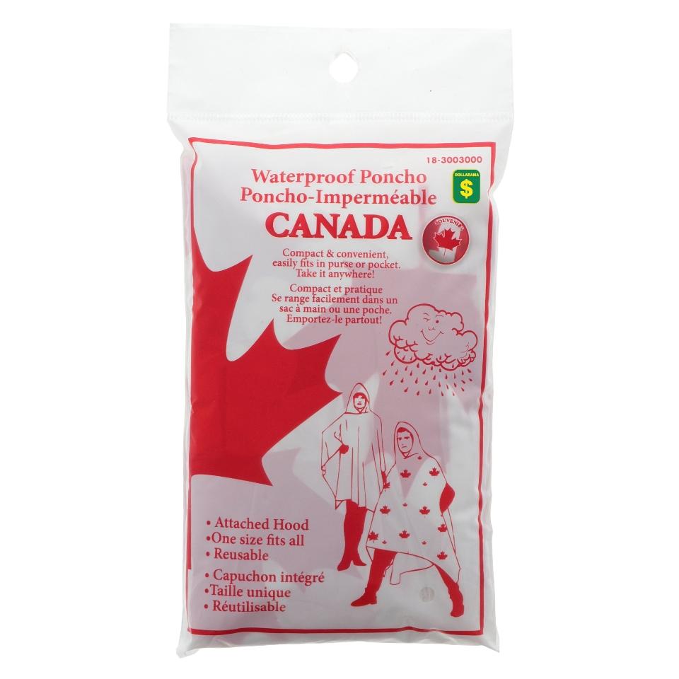 Canada Souvenir Adult Rain Poncho