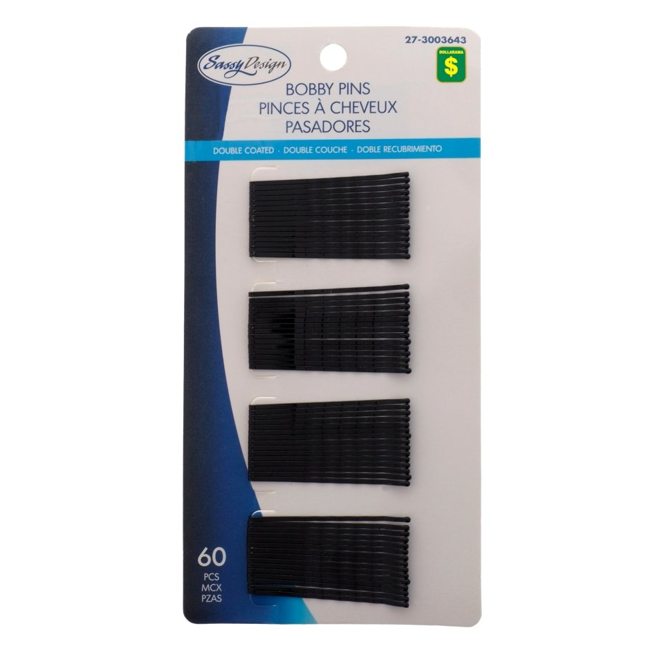 60PK Black Bobby Pins