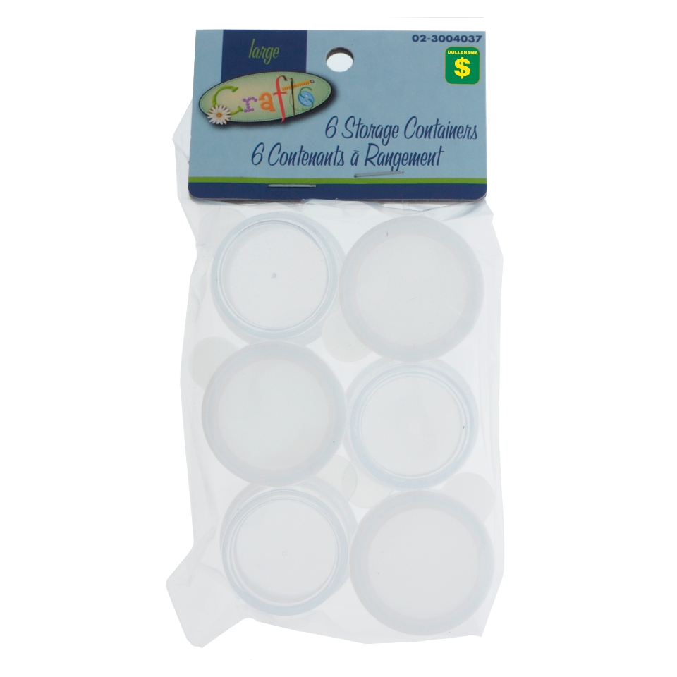 Storage Containers 6PK and 8PK (Assorted Sizes)