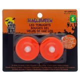 Halloween-2pk LED Flickering Tealites - 1