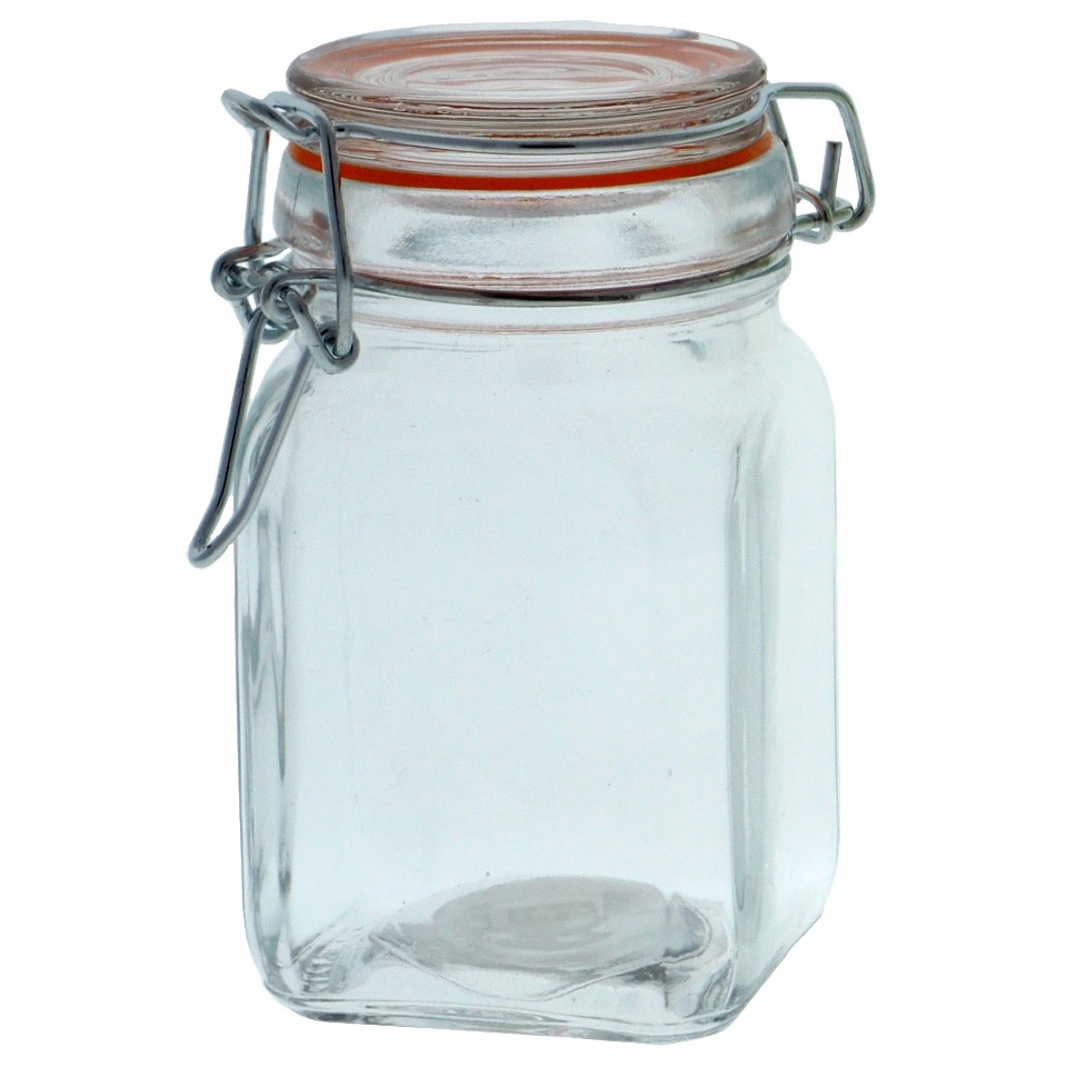 Hermetic Glass Clip Jar (Assorted Colours and Shapes)