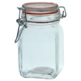 Hermetic Glass Clip Jar (Assorted Colours and Shapes) - 0