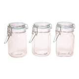 Hermetic Glass Clip Jar (Assorted Colours and Shapes) - 1