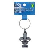 Porte-clés fleur de lys souvenir du Québec - 0