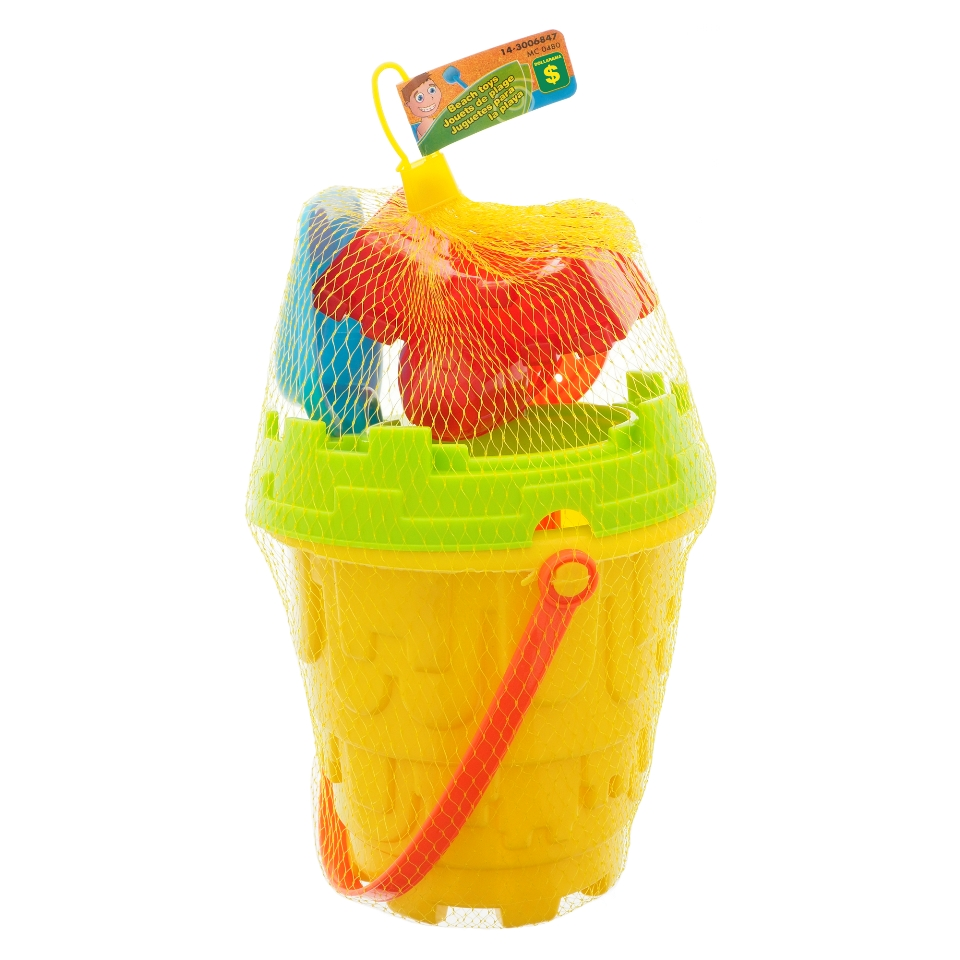 Jumbo Assorted Beach Toy Set with Pail and Accessories