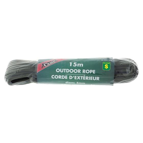 Corde d'exérieur de 15m pour camping