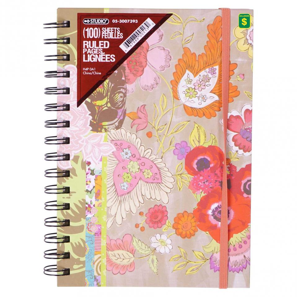 Spiral Notebook with elastic (Assorted styles)