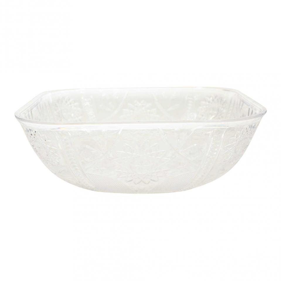 Clear Plastic Serving Bowl