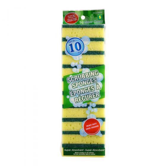 10PK Scrubbing Sponges