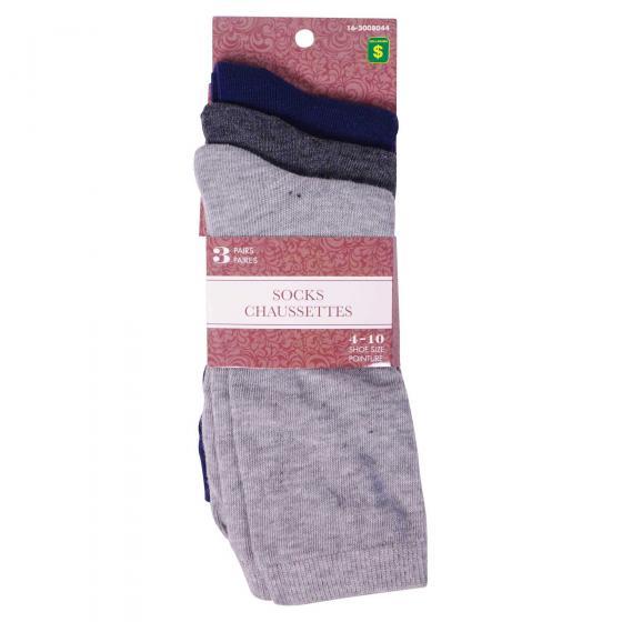 3 Paires de chaussettes pour femme (Couleurs assorties)