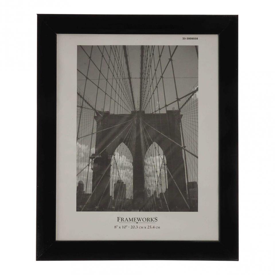 Cadre photo noir 8''x10'' en plastique