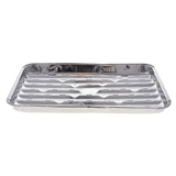 3PC Slotted Aluminum BBQ Tray - 1