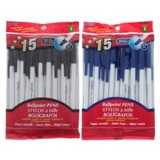 Ballpoint Pens 15PK (Assorted Colours) - 1