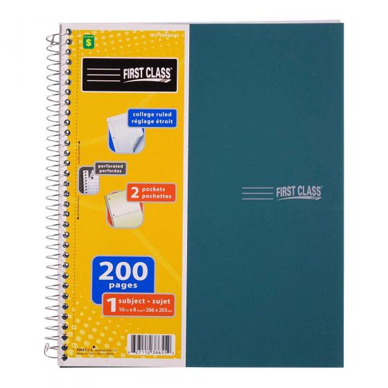 Spiral Notebook (Assorted Colours)