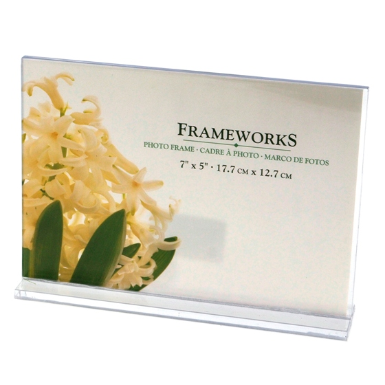 "Clear 7""x5"" Photo Frame (Assorted orientations)"