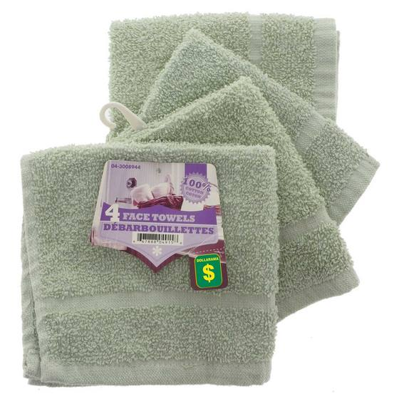 Face Cloths 4PK (Assorted Colours)