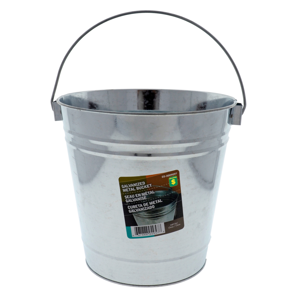 Metal Galvanized Bucket with Handle