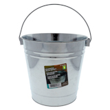 Metal Galvanized Bucket with Handle - 0